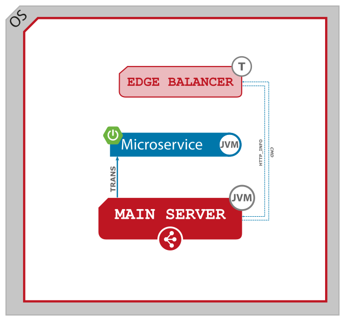 Figure 2. Servlet microservice and Main Server.