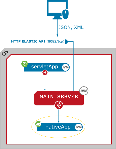 Figure 1. Exposed HTTP Elastic API entry point for native microservice.